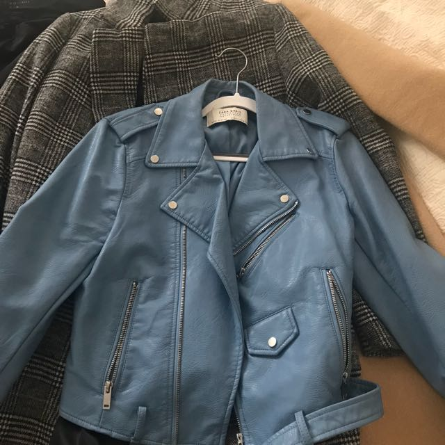 Zara leather jacket in S
