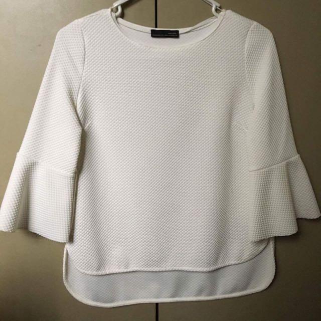 Zara White Top / Blouse