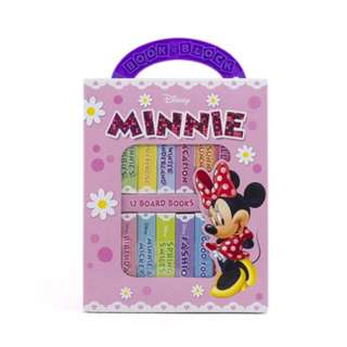 BNIB Disney Minnie Mouse 12 Board Book Block Library Set