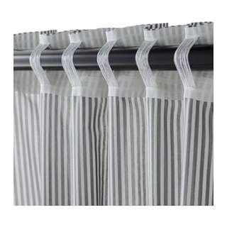 Ikea 黑色 歐風 北歐 窗簾桿組合 含窗簾桿頭