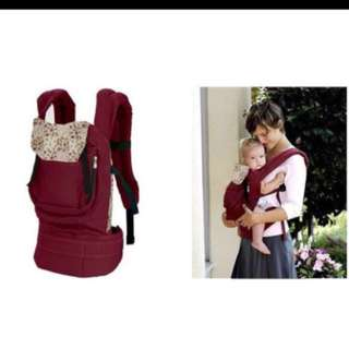 Cotton comfort baby carrier - wine red
