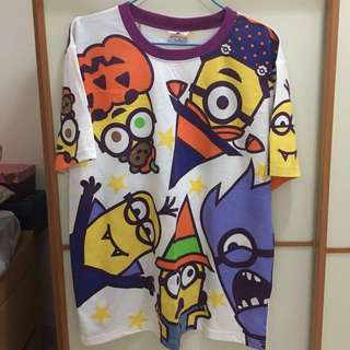 100% New Minions x Halloween Tee from Universal Studios Japan