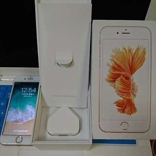 Iphone 6s Rose Gold 90%New 128GB with box and charge