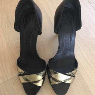 Pedro Garcia sexy gold & black heels 37