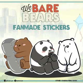 We Bare Bears Stickers and Postcard Set