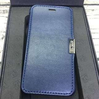 🚚 iPhone6/6s 4.7 寶藍色 真皮 翻蓋手機殼