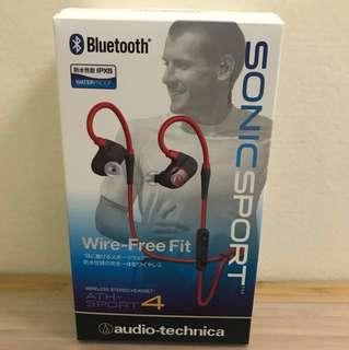 鐵三角 ATH-SPORT 4 藍芽耳機