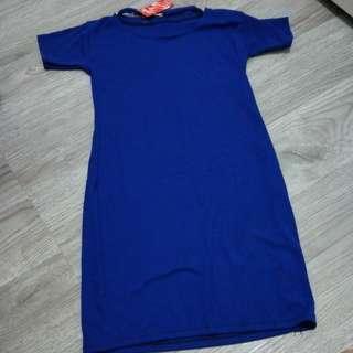 Blue chocker bodycon dress