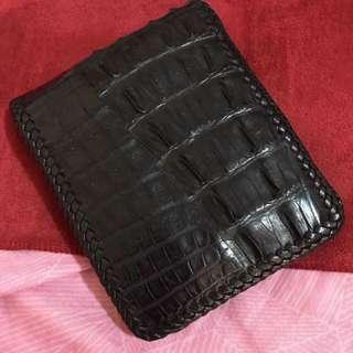 正鱷魚皮🐊短夾 皮夾 真皮 編織