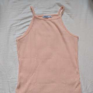 Baby pink ribbed top