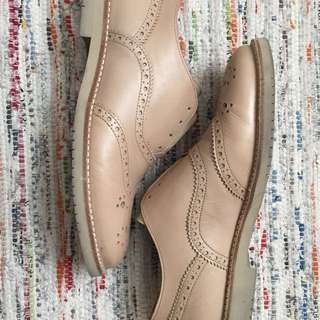 Nude oxfords size 9