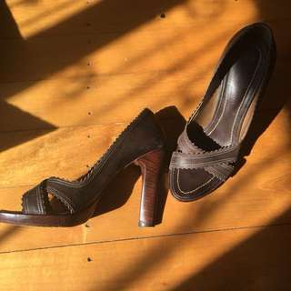 Paula Bahia brown leather shoes size 47 or 6.5