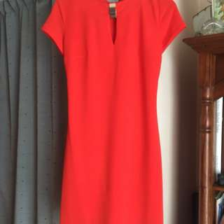 Stunning Agnes & Paul dress! Size 8 fiery orange.