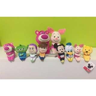 🚚 日本帶回🇯🇵 Disney 迪士尼坐姿娃娃 玩具總動員 熊抱哥 唐老鴨 三眼怪 小豬 #手滑買太多