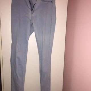 Ziggy Denim Mid Rise Super Skinny Light Blue Jeans