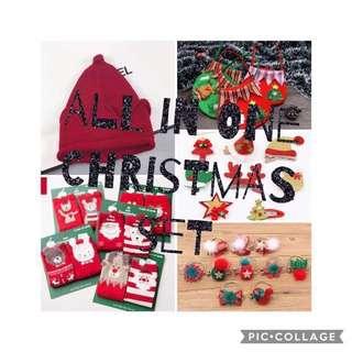 女童聖誕頭飾帽子襪禮品包Christmas Box Set