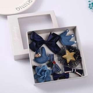 一盒十件頭飾髮夾禮盒