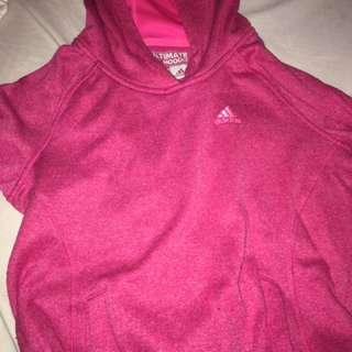 Adidas Womans Pink Hoodie / pull over