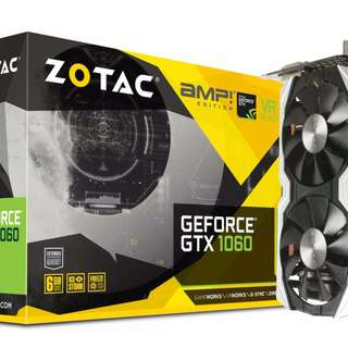 Zotac 1060 AMP 6GB DDR 5 Geforce GTX  Nvidia video card gpu