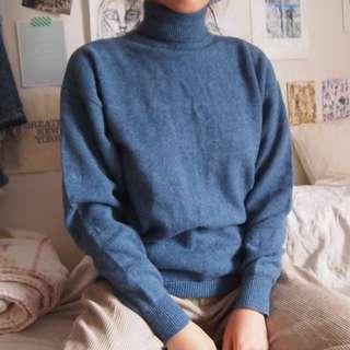 Vintage Giordano Genuine Wool Turtle Neck Sweater