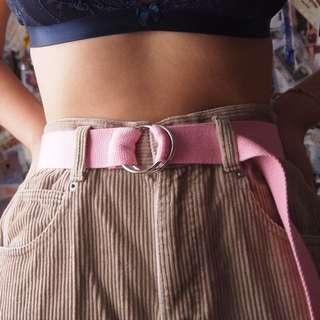 Pink D Ring 90s Y2K Belt
