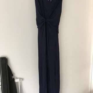 Seraphine navy maternity maxi dress size 12