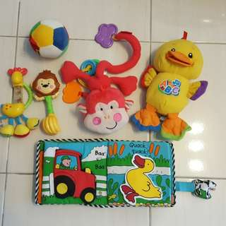 Fisher Price, Lamaze, K's Kidi baby toys bundle