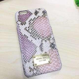 MK Pink Snakeskin Pattern iPhone 6 Plus Case 蛇皮紋電話殼