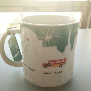 Starbucks Green Relief Mug