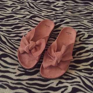 Velvet pink sandal original price 49.90