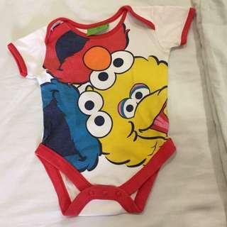 Sesame Street bodysuit 3-6m unisex Mothercare