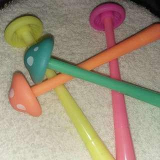 Scented mushroom gel pen
