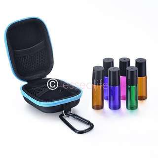 Essential Oil Case + 6* 5ml Roller bottle 🌈🌈