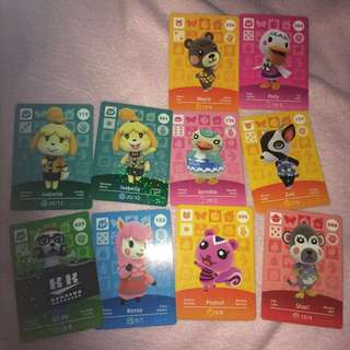 Animal crossing amiibo $3 each