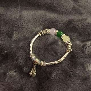 SILVER buddha bracelet