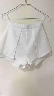 White Skort