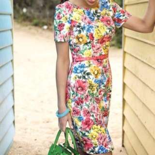 Review Floral Formal Dress size 10