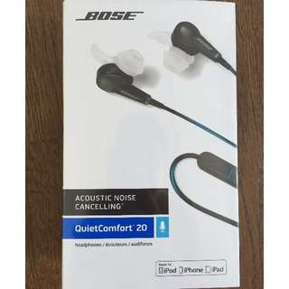 Brand New Bose QC20 Noise Cancelling Earphone