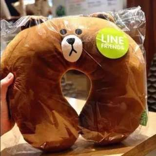 Line Character Neck Pillow X Rap Mon Travel Fav
