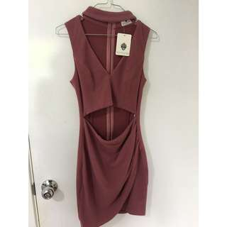 Wine coloured dress