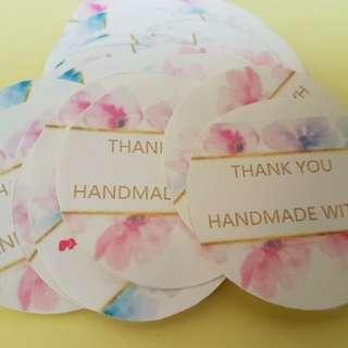 Customer customised stickers @ no minimum - like us facebook -newborn d-esign