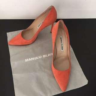 Manolo Blahnik BB Suede Point Toe Authentic