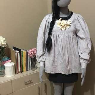 MARNI long sleeve two layer pockets dress