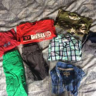Size 2 Boys Bundle incl pumpkin patch, diesel & lee cooper