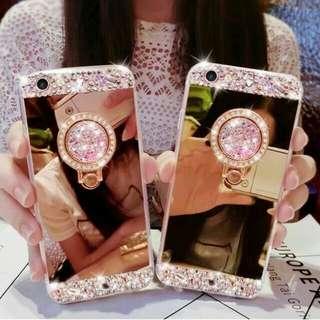 Case Oppo F1s F3 F1 Plus A39 A57 Mirror Neo 9 5 R7 R7f R7s Luxury Diamond Crystal Cover Ring Bear