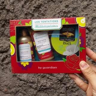 Paket hemat bodywash bodyscrub guardian dan herborist