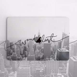 Wanderlust New York Monochrome Backdrop Macbook Vinyl Decal