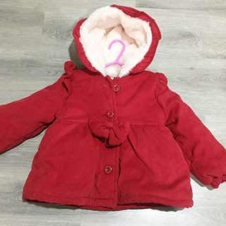 Girl Furry Red Jacket