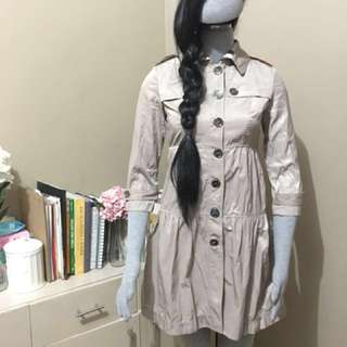 BURBERRY 3/4 sleeve beige trench dress