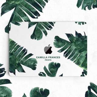Camilla Frances Tropical Green Palm Leaves Macbook Vinyl Decal